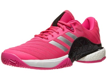 new product f6db9 c85f5 adidas Barricade 2018 BOOST Pink Silver Men s Shoes