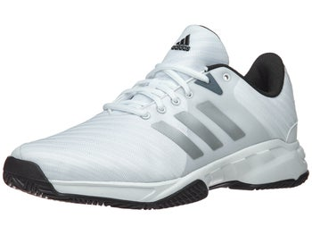 premium selection 7cdab 9031f adidas Barricade Court 3 Wide WhiteSilver Mens Shoes