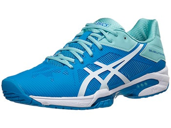 4b8cc1d3 Asics Gel Solution Speed 3 Aqua/Blue Women's Shoes